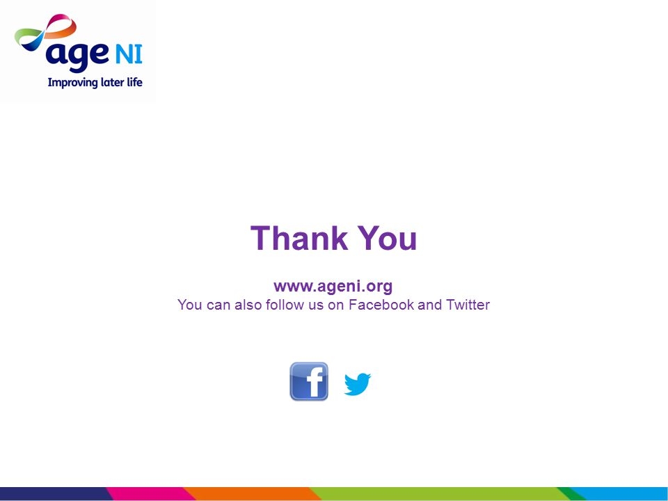 Thank You www.ageni.org You can also follow us on Facebook and Twitter