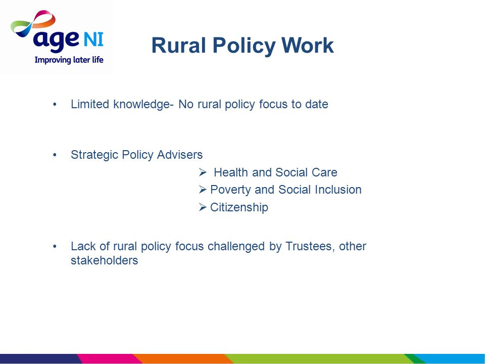 Questions 1.Should Age NI have a rural focus in its policy work.