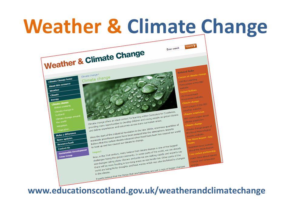 Weather & Climate Change www.educationscotland.gov.uk/weatherandclimatechange