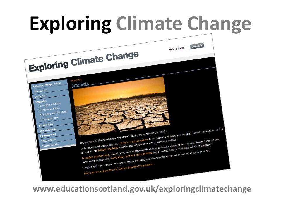 Exploring Climate Change www.educationscotland.gov.uk/exploringclimatechange