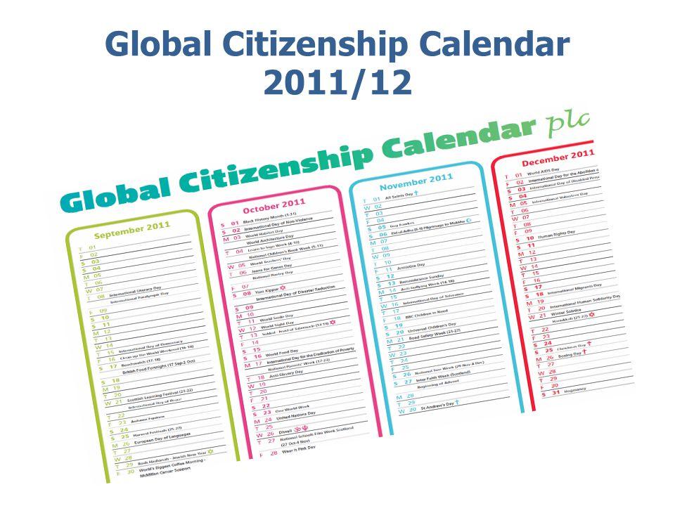 Global Citizenship Calendar 2011/12