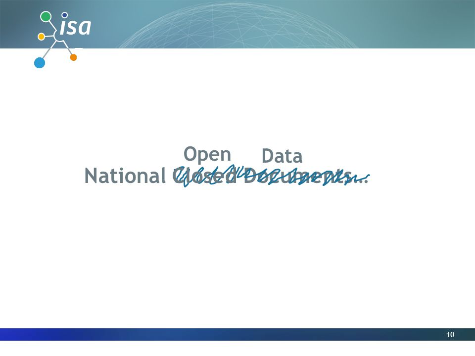 10 Open National Closed Documents… Data