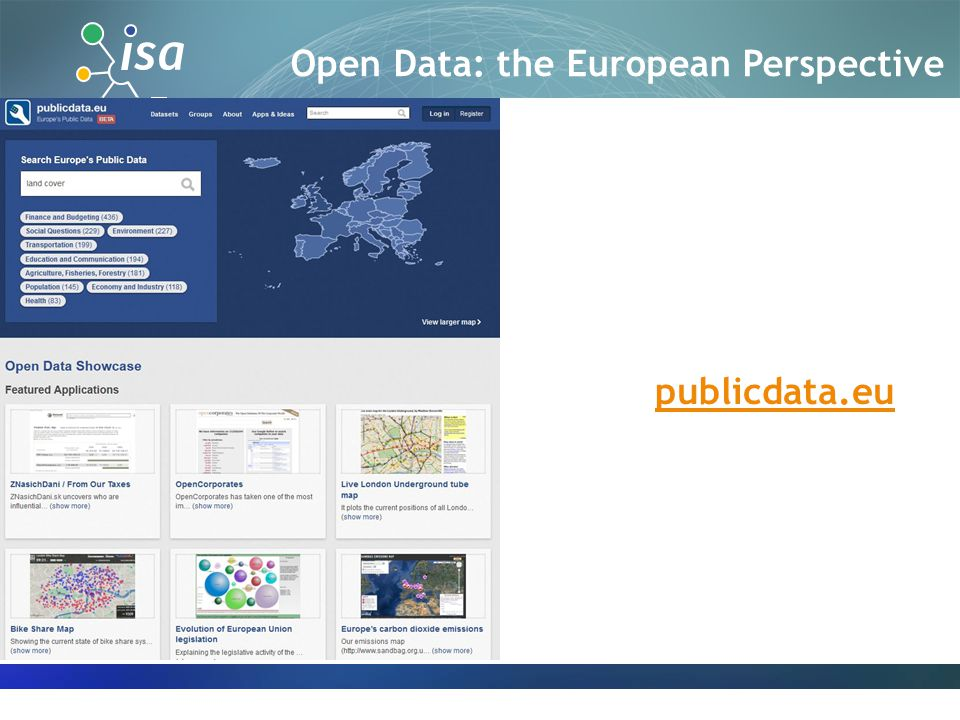 publicdata.eu Open Data: the European Perspective