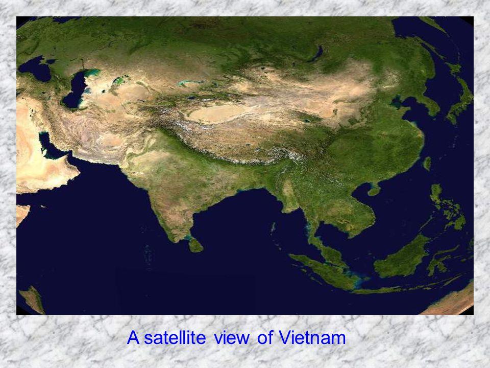 A satellite view of Vietnam