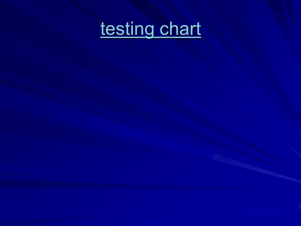 testing chart testing chart