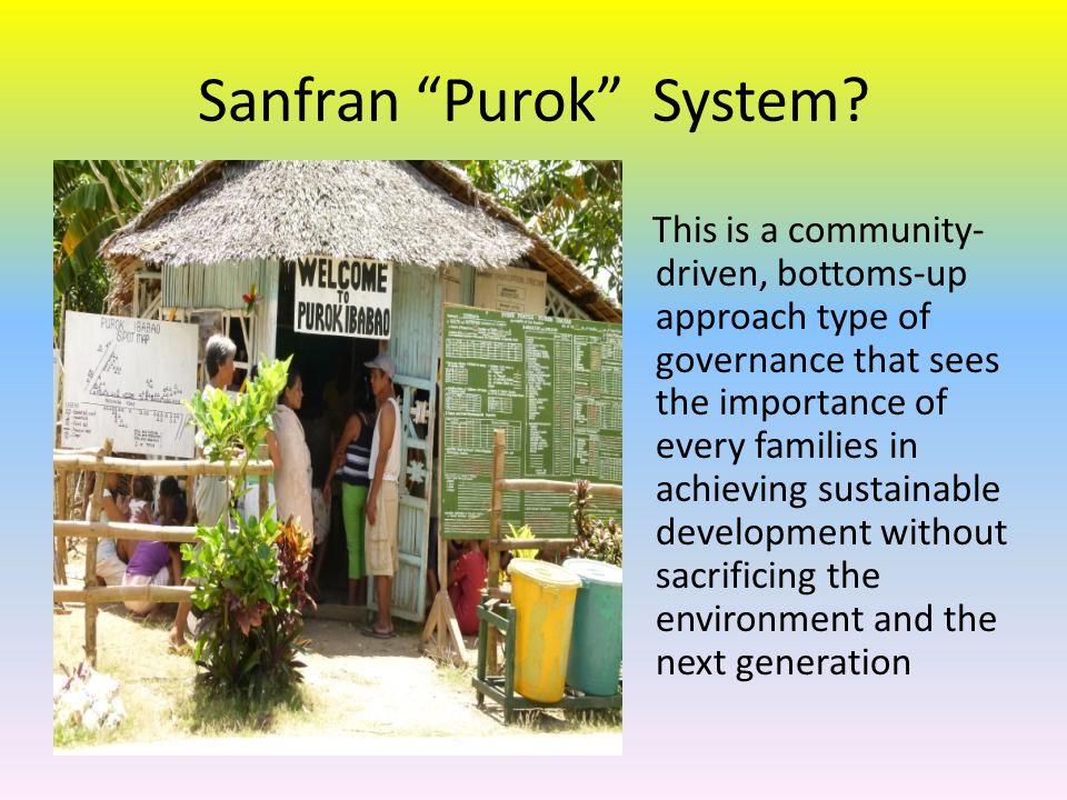 Successful LGU programs integrated in Purok Level