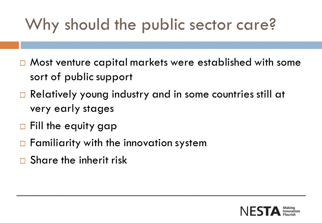 Why should the public sector care.