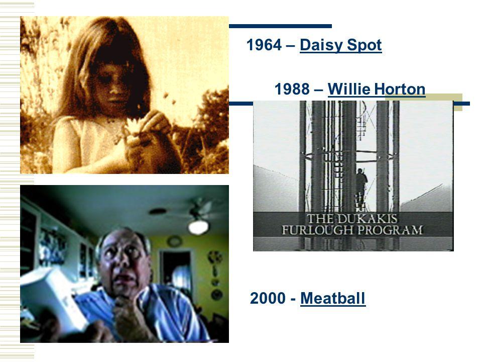 1964 – Daisy SpotDaisy Spot 1988 – Willie HortonWillie Horton 2000 - MeatballMeatball