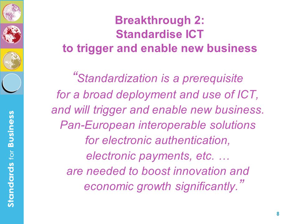 9 Breakthrough 3: Accelerate the introduction of disruptive technologies The speed with which new technologies are accepted and put to work has a serious impact on economic growth.