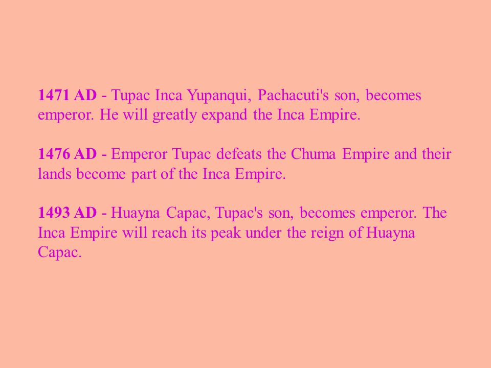 Decline and Fall of the Inca Empire 1525 AD - The sons of Emperor Huayna, Atahualpa and Huascar, fight over the crown.