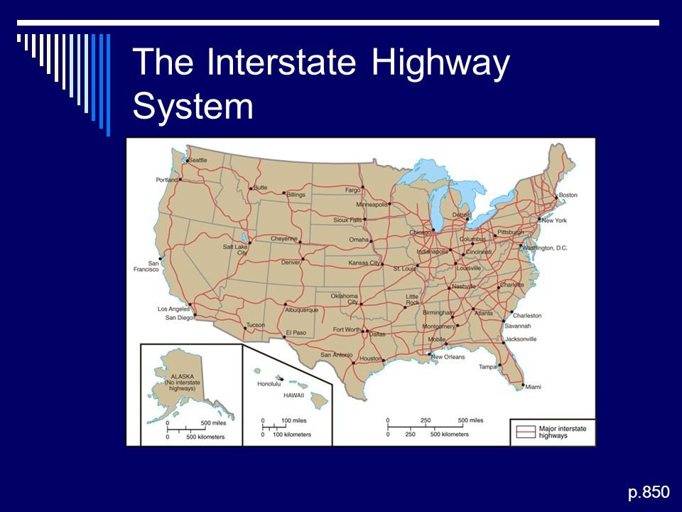 The Interstate Highway System p.850