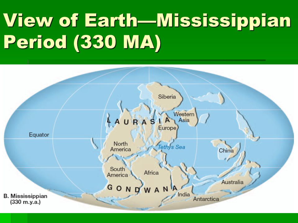 View of Earth—Mississippian Period (330 MA)