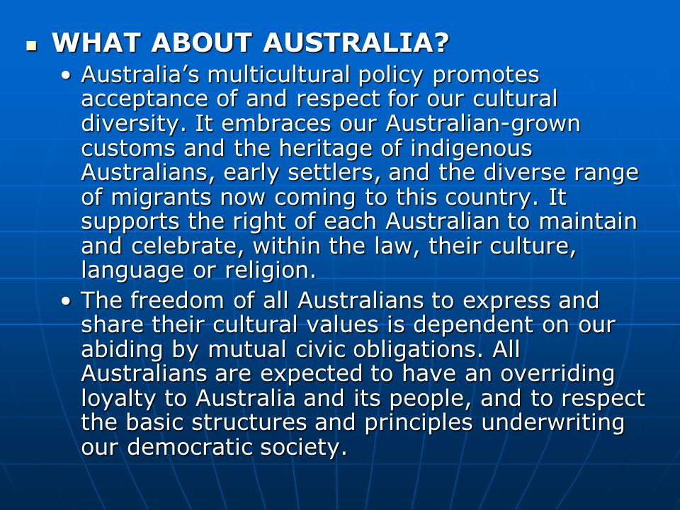 WHAT ABOUT AUSTRALIA. WHAT ABOUT AUSTRALIA.