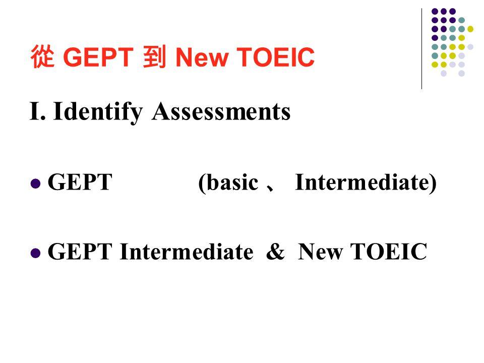 GEPT 初級 GEPT 中級 New TOEIC 詞彙與結構  段落填空  閱讀理解  Single Double 從 GEPT 到 New TOEIC 題型