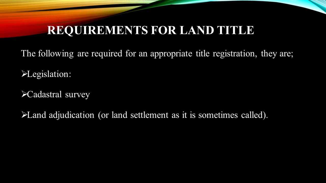 LAGOS STATE LAND REGISTRY CASE STUDY  The land registry in Lagos is currently the most developed land registry in Nigeria.