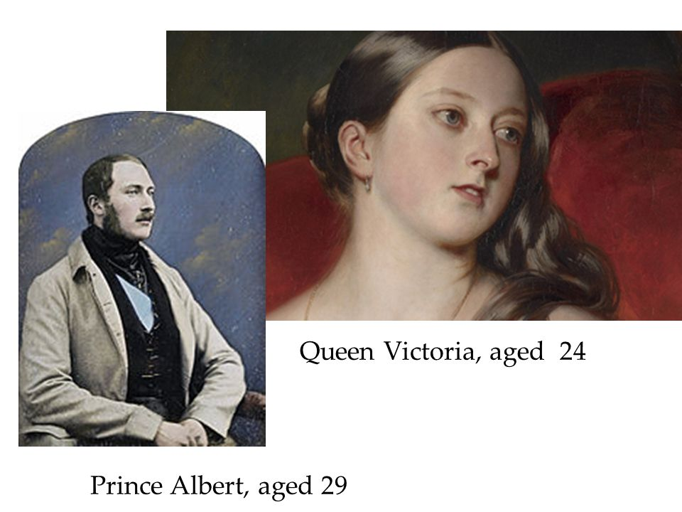 Queen Victoria, aged 24 Prince Albert, aged 29