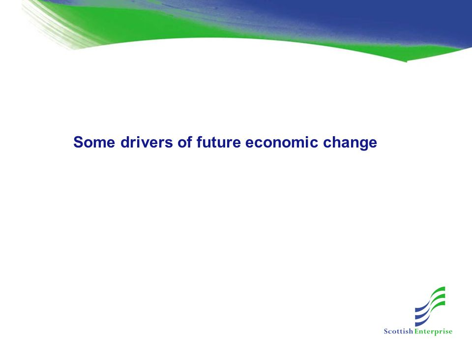 Some drivers of future economic change