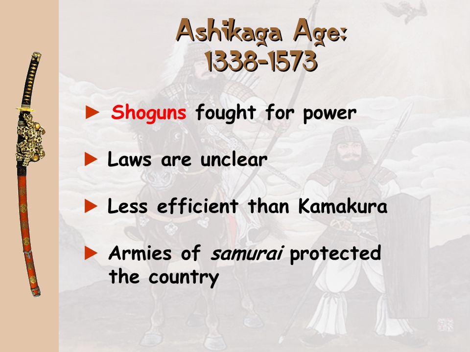 Minamoto Yoritomo Founded the Kamakura Shogunate: 1185-1333 Led a warrior coalition of Samurai to victory over Japan. Allowed the emperor to remain in