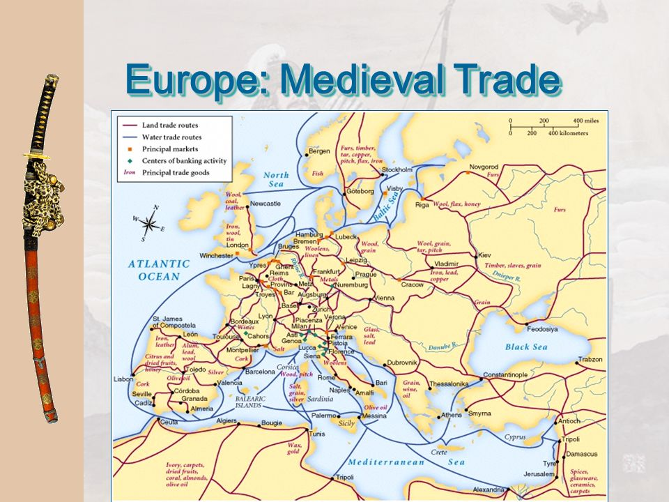 Europe:  Medieval Manor: Medieval Economic System is based on agriculture Europe:
