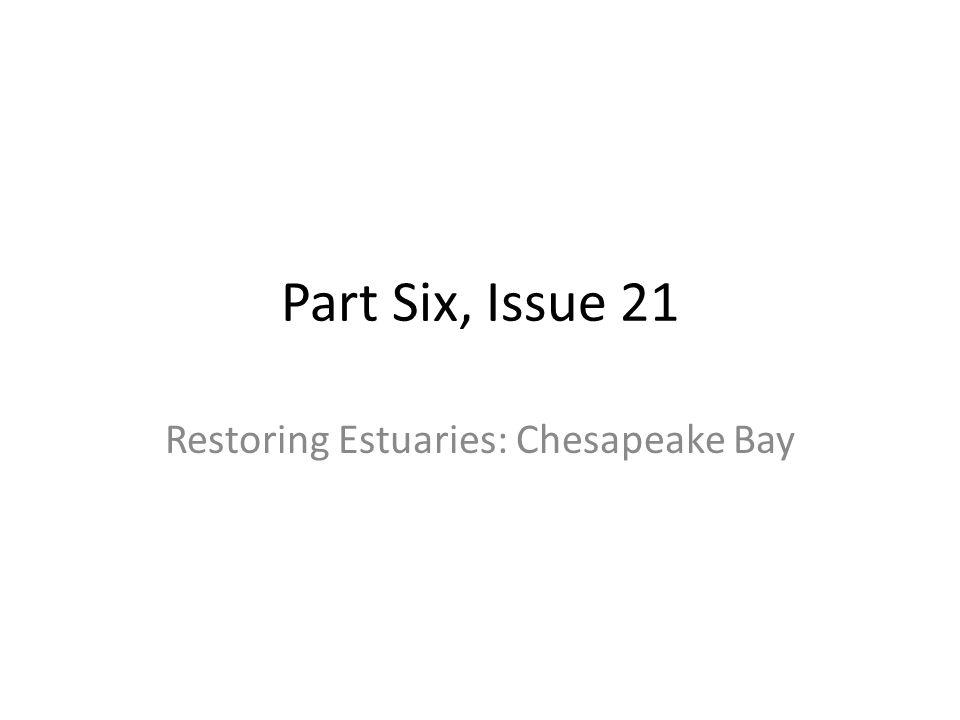 Part Six, Issue 21 Restoring Estuaries: Chesapeake Bay