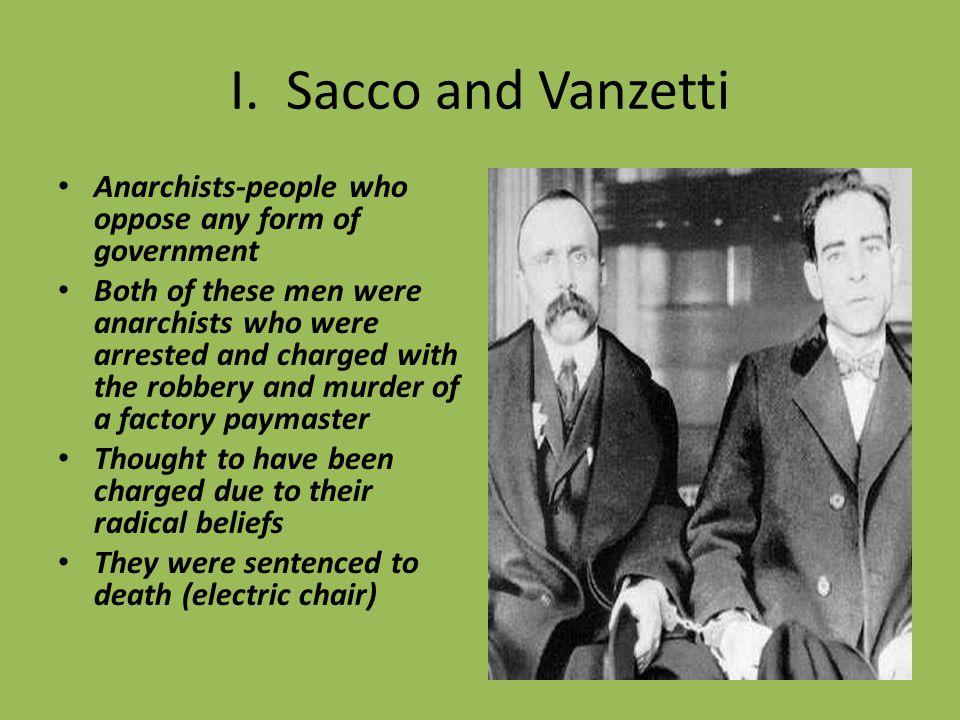 Insert video: Sacco and Van