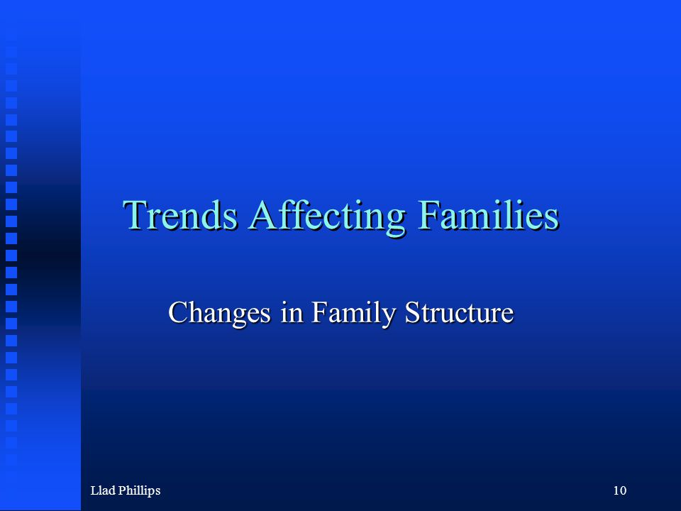 Llad Phillips10 Trends Affecting Families Changes in Family Structure