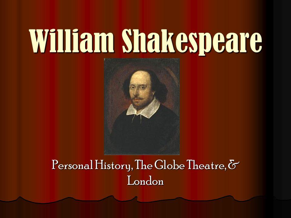 William Shakespeare Personal History, The Globe Theatre, & London