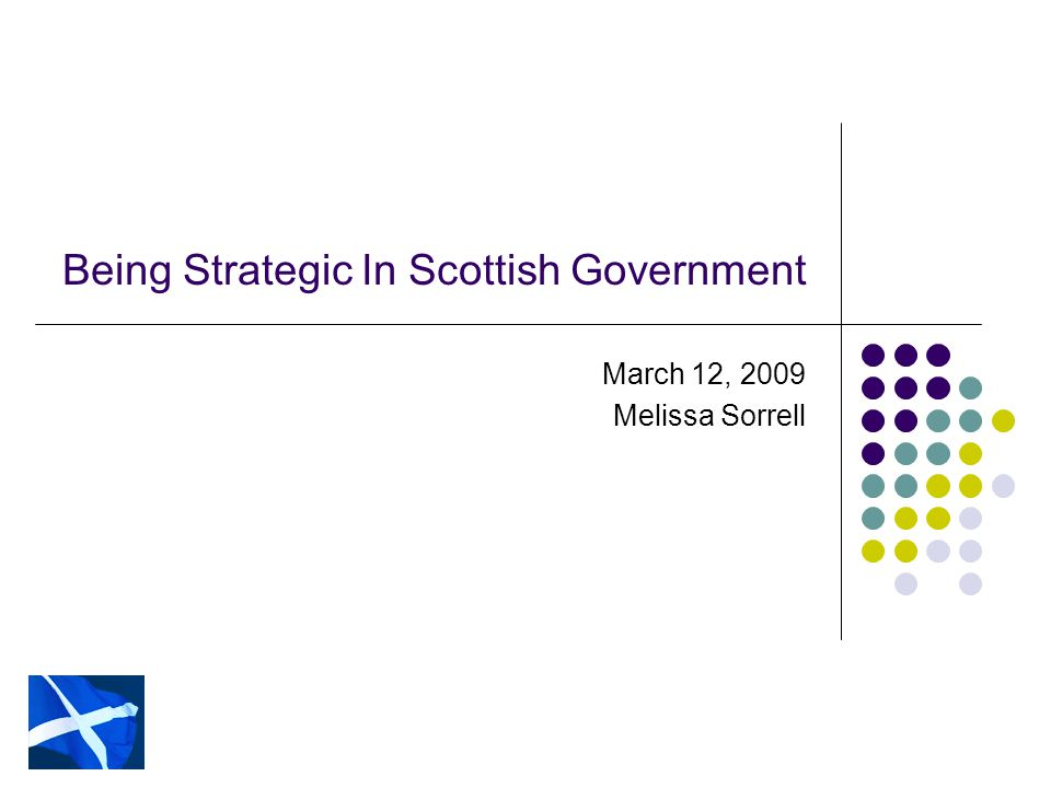 Outcomes Scotland's Outcomes WEALTHIER AND FAIRER Enable businesses and people to increase their wealth and more people to share fairly in that wealth.