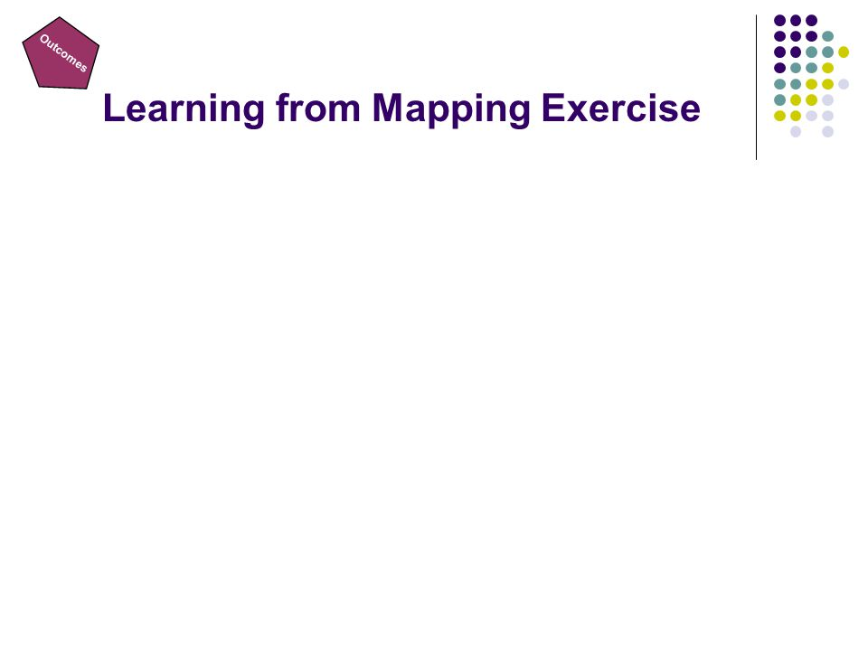 Outcomes Learning from Mapping Exercise
