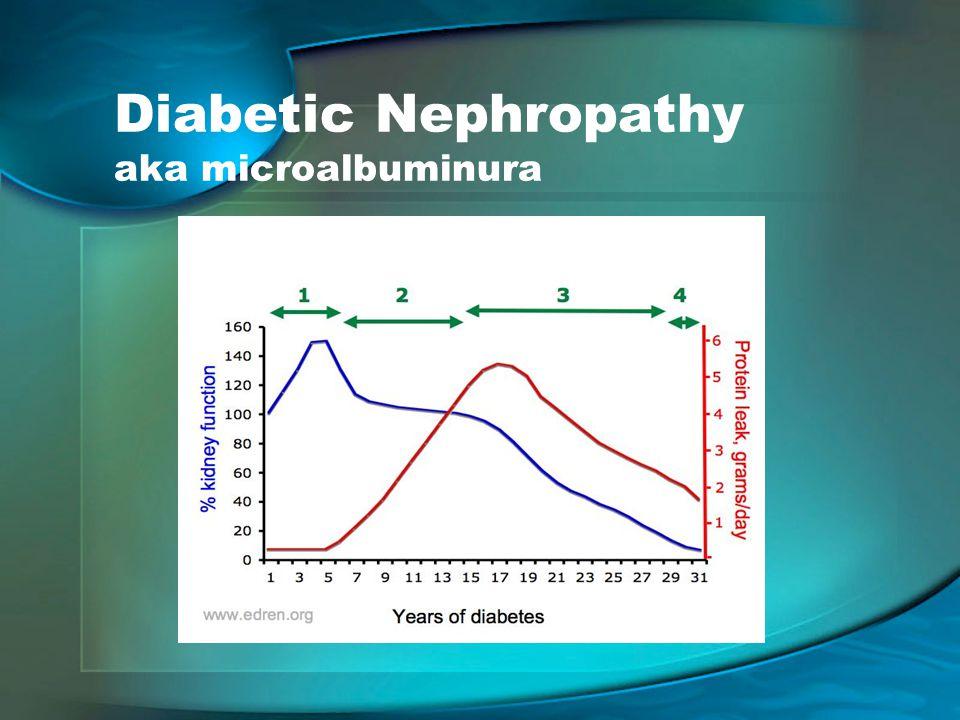 Diabetic Nephropathy aka microalbuminura