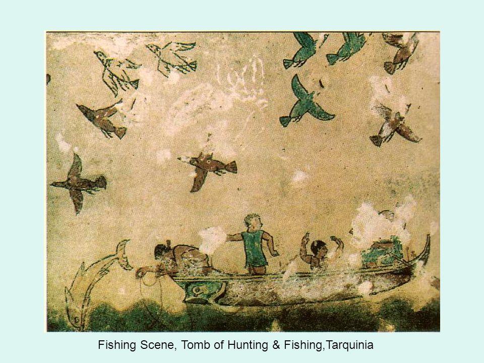 Fishing Scene, Tomb of Hunting & Fishing,Tarquinia