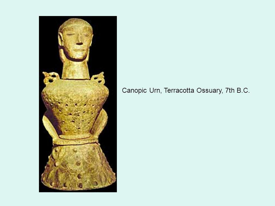 Canopic Urn, Terracotta Ossuary, 7th B.C.