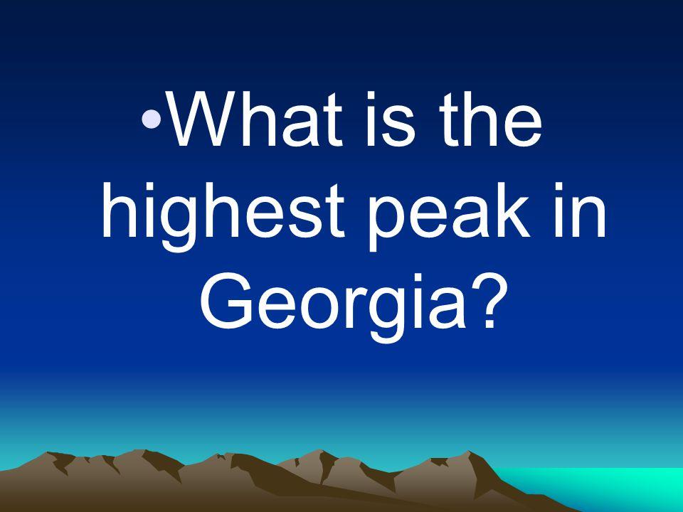 What is the highest peak in Georgia
