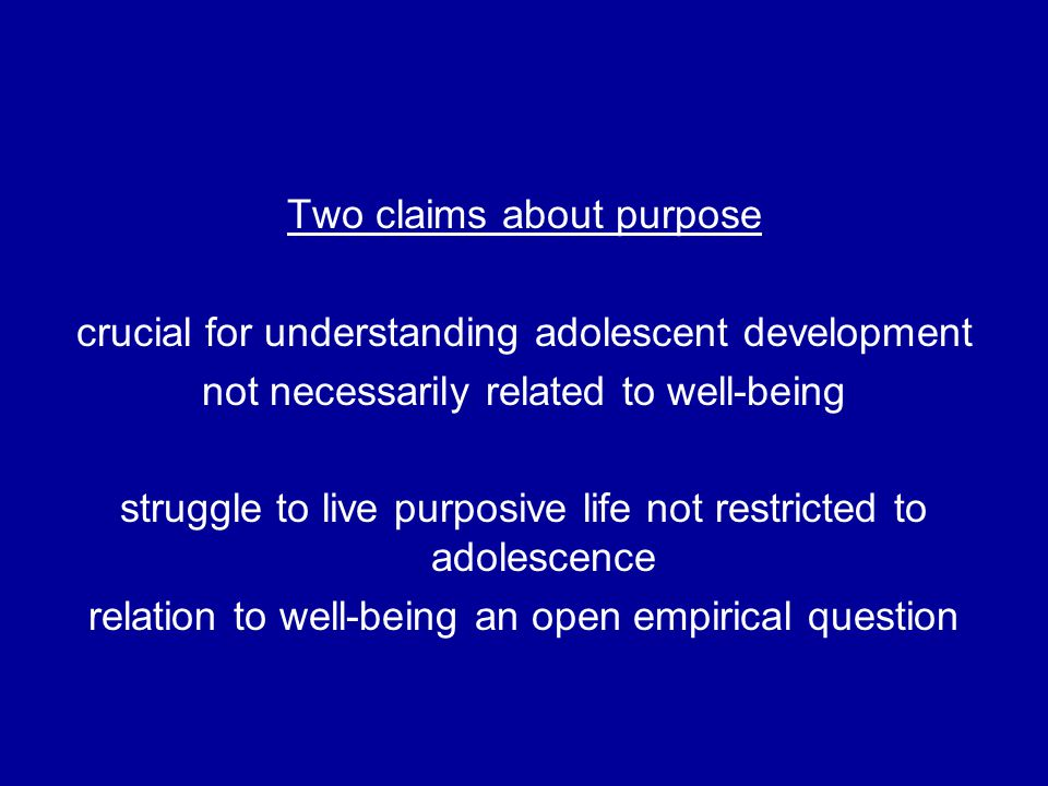 But Identified Purpose contributes to life satisfaction only when there is hope (or the agentic aspect of hope)
