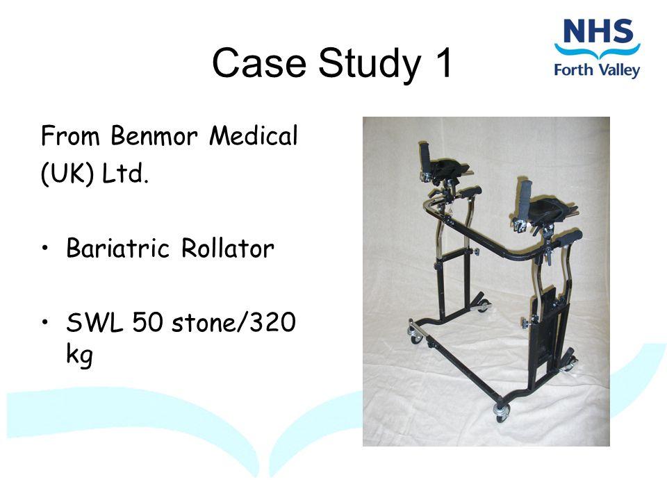 Case Study 1 From Benmor Medical (UK) Ltd. Bariatric Rollator SWL 50 stone/320 kg