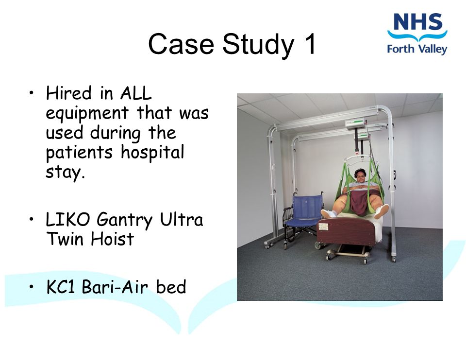 Case Study 1 Hired in ALL equipment that was used during the patients hospital stay.