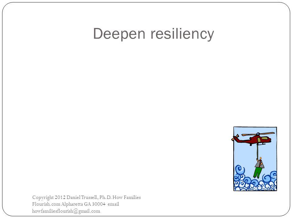 Deepen resiliency Copyright 2012 Daniel Trussell, Ph.D.
