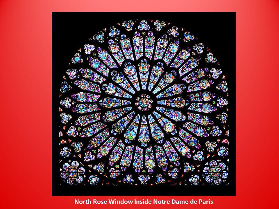 North Rose Window Inside Notre Dame de Paris