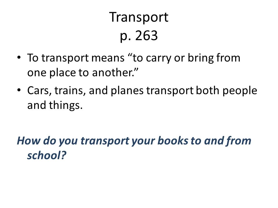 Transport p.