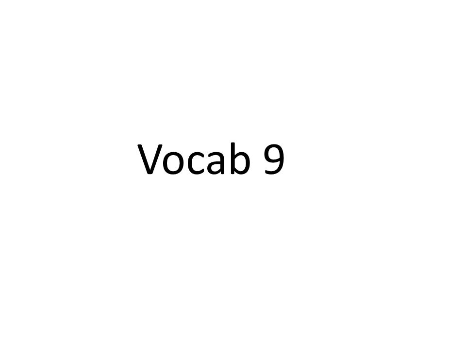 Vocab 9