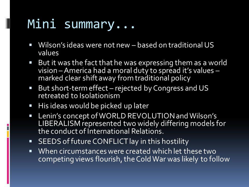Mini summary...