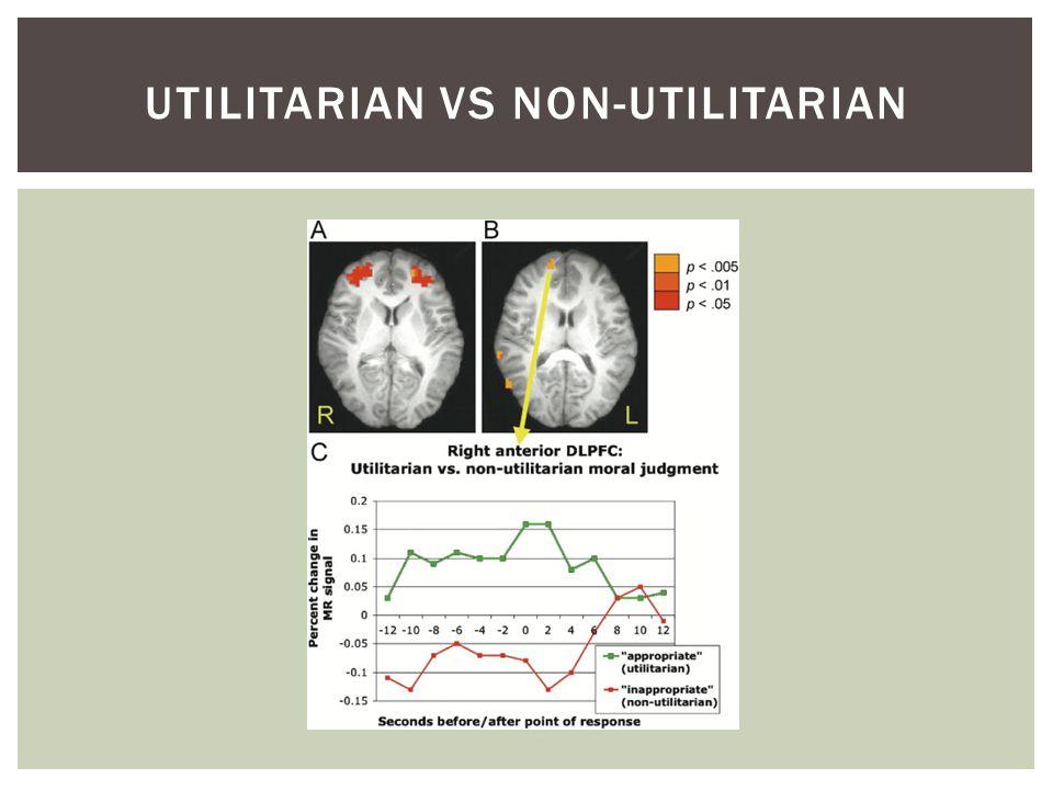 UTILITARIAN VS NON-UTILITARIAN
