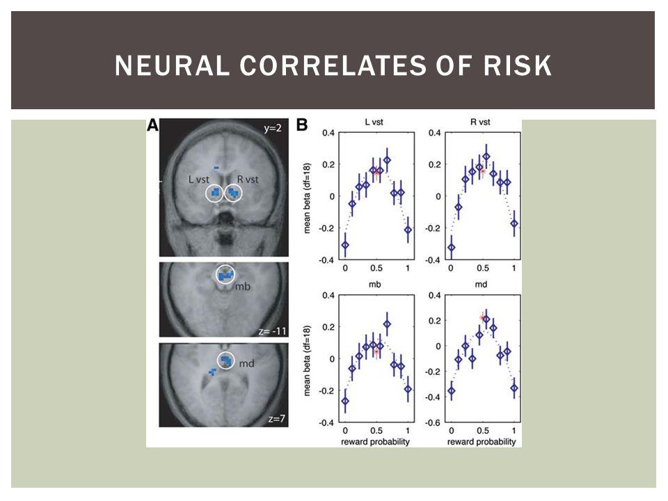 NEURAL CORRELATES OF RISK