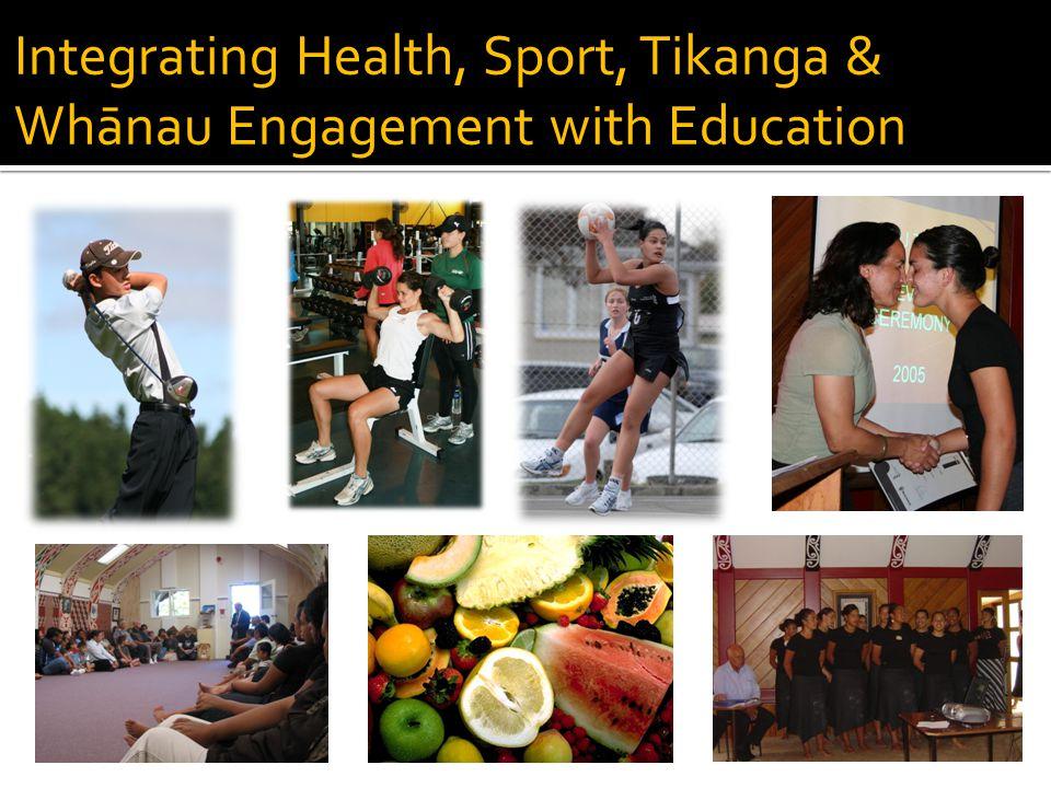 Integrating Health, Sport, Tikanga & Whānau Engagement with Education