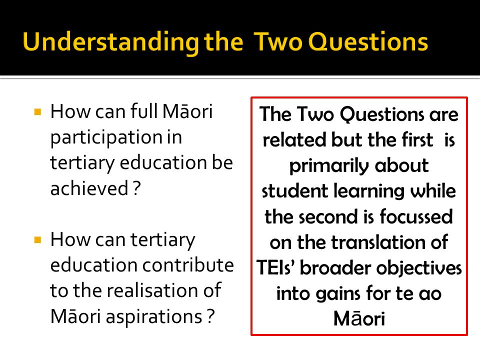  How can full Māori participation in tertiary education be achieved .