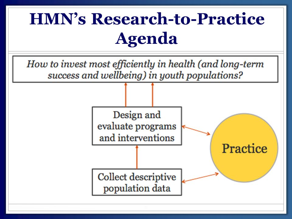 HMN's Research-to-Practice Agenda 8