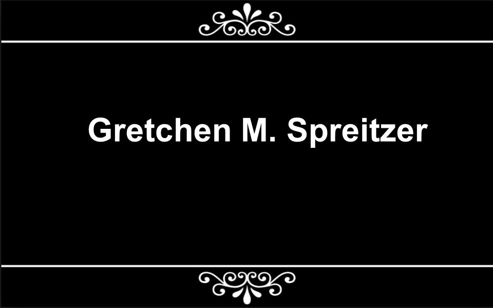 What is POS.Who is Gretchen M. Spreitzer. Why is her work important for us.