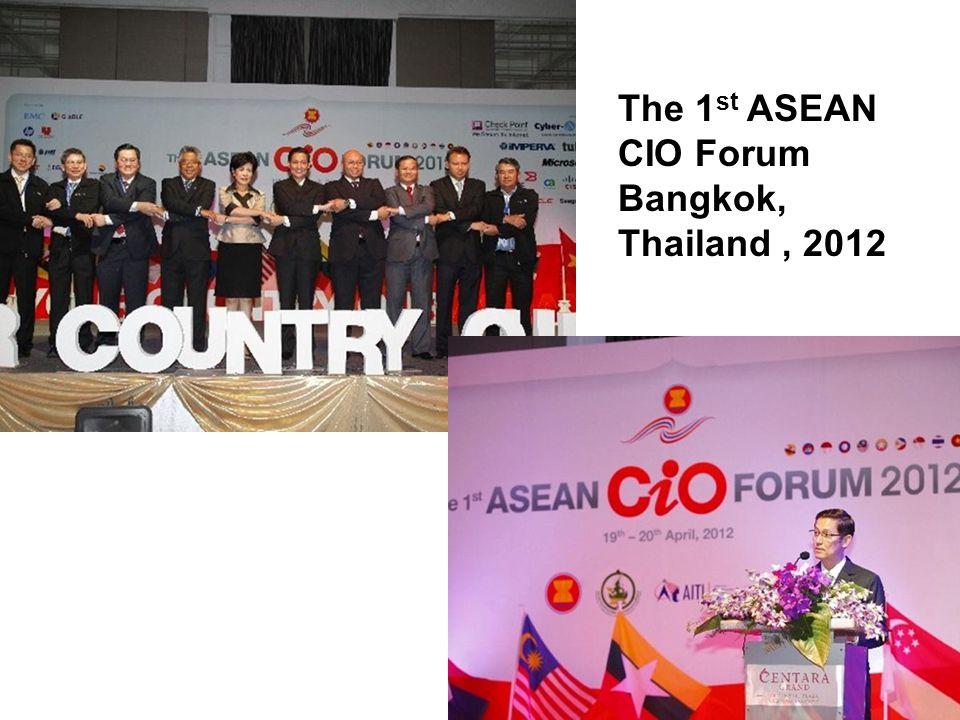 22 The 1 st ASEAN CIO Forum Bangkok, Thailand, 2012