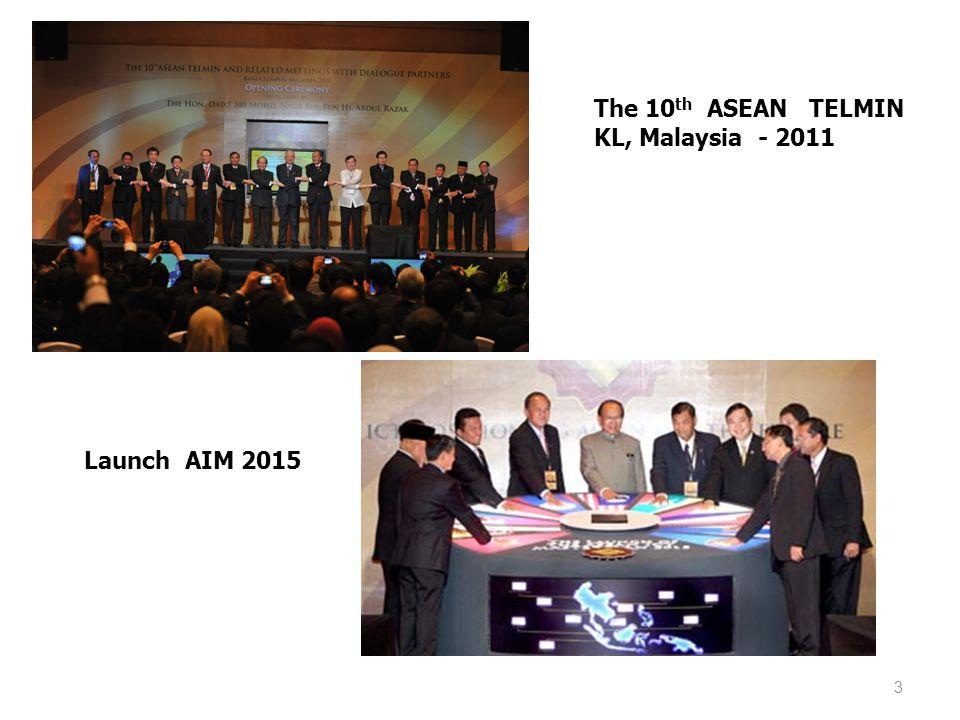 3 The 10 th ASEAN TELMIN KL, Malaysia - 2011 Launch AIM 2015