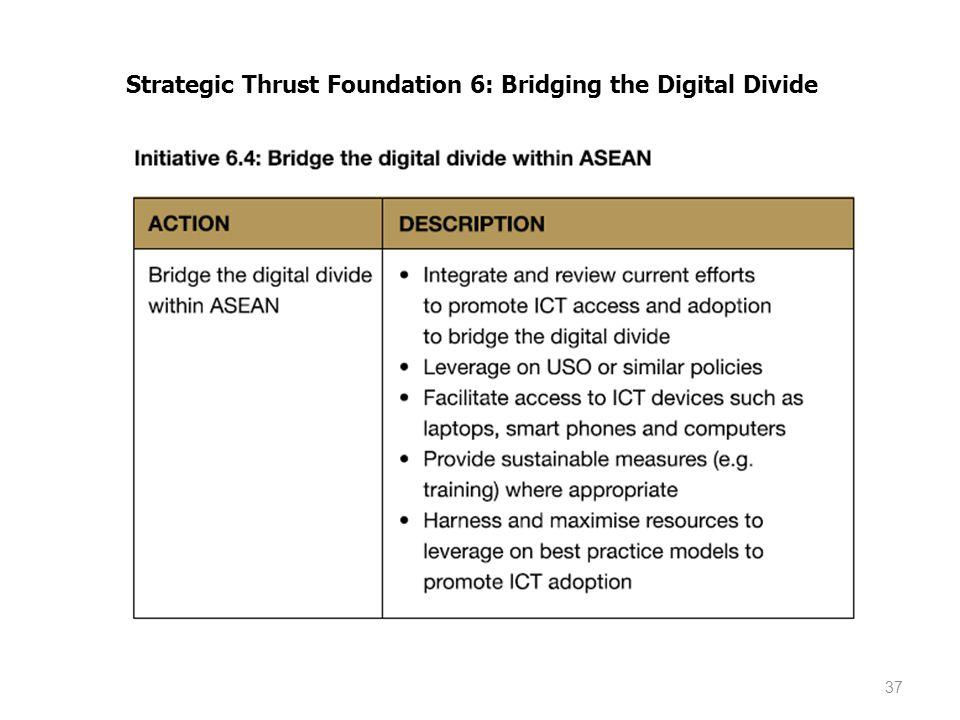 37 Strategic Thrust Foundation 6: Bridging the Digital Divide
